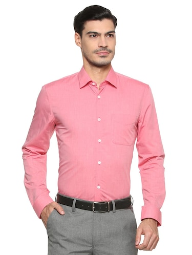 pink cotton formal shirt - 15512474 - Standard Image - 1