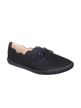 black slip on casual shoes - 15515070 - Standard Image - 1