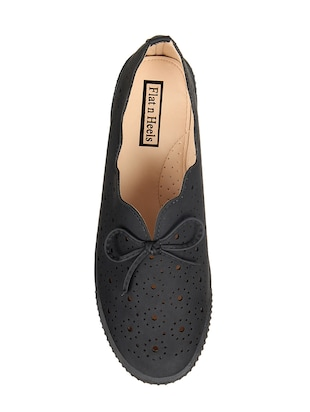 black slip on casual shoes - 15515070 - Standard Image - 4