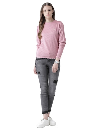 pointelle knit scallop edge pullover - 15519459 - Standard Image - 4