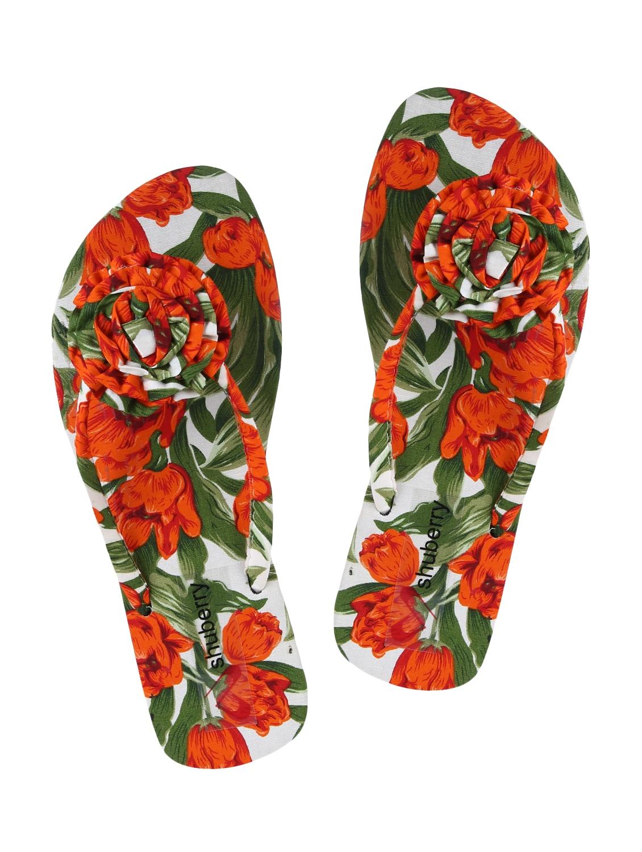 9abfe26cd914 Buy Orange Toe Separator Flip Flops by Shuberry - Online shopping for Flip  Flops in India