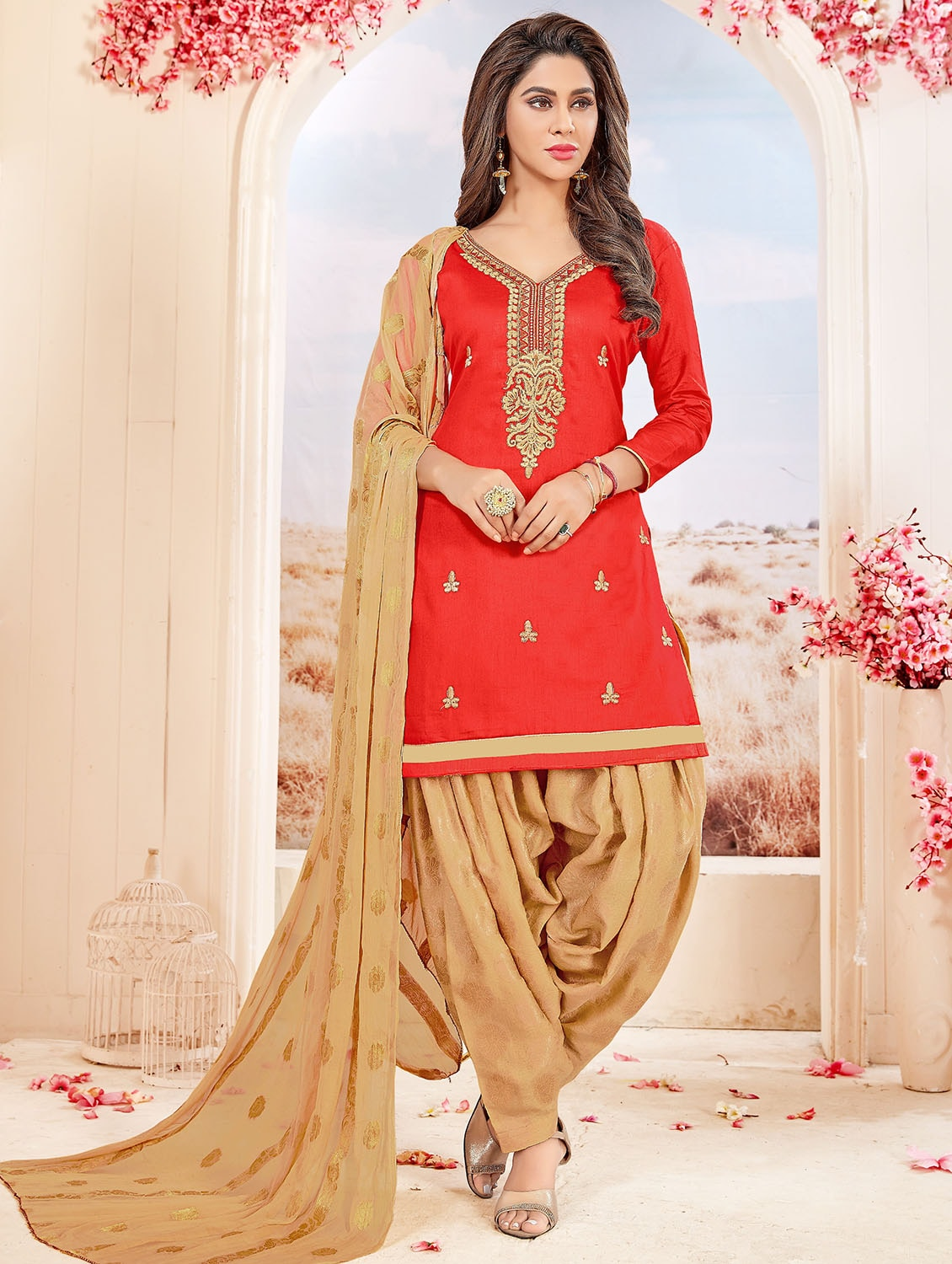 06a4442c0 Embroidered Unstitched Patiyala Suit