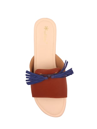 tan slip on sandals - 15526464 - Standard Image - 4