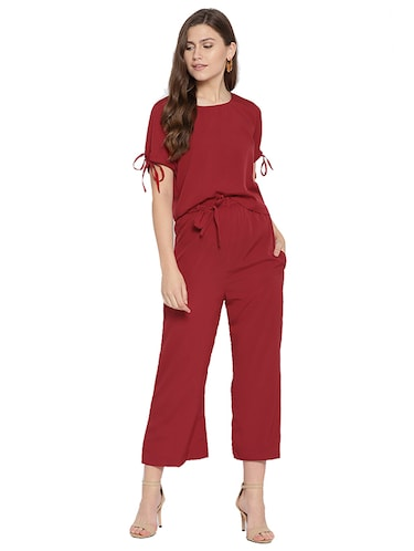 tie detail top and trouser set - 15526915 - Standard Image - 1