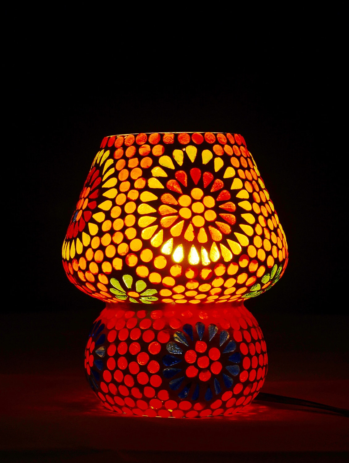 Miraculous Multicolour Mosaic Glass Table Lamp With Shades For Living Room Interior Design Ideas Clesiryabchikinfo