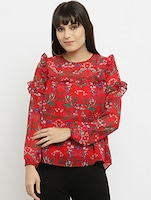 1975367c4956a printed frilled detail top