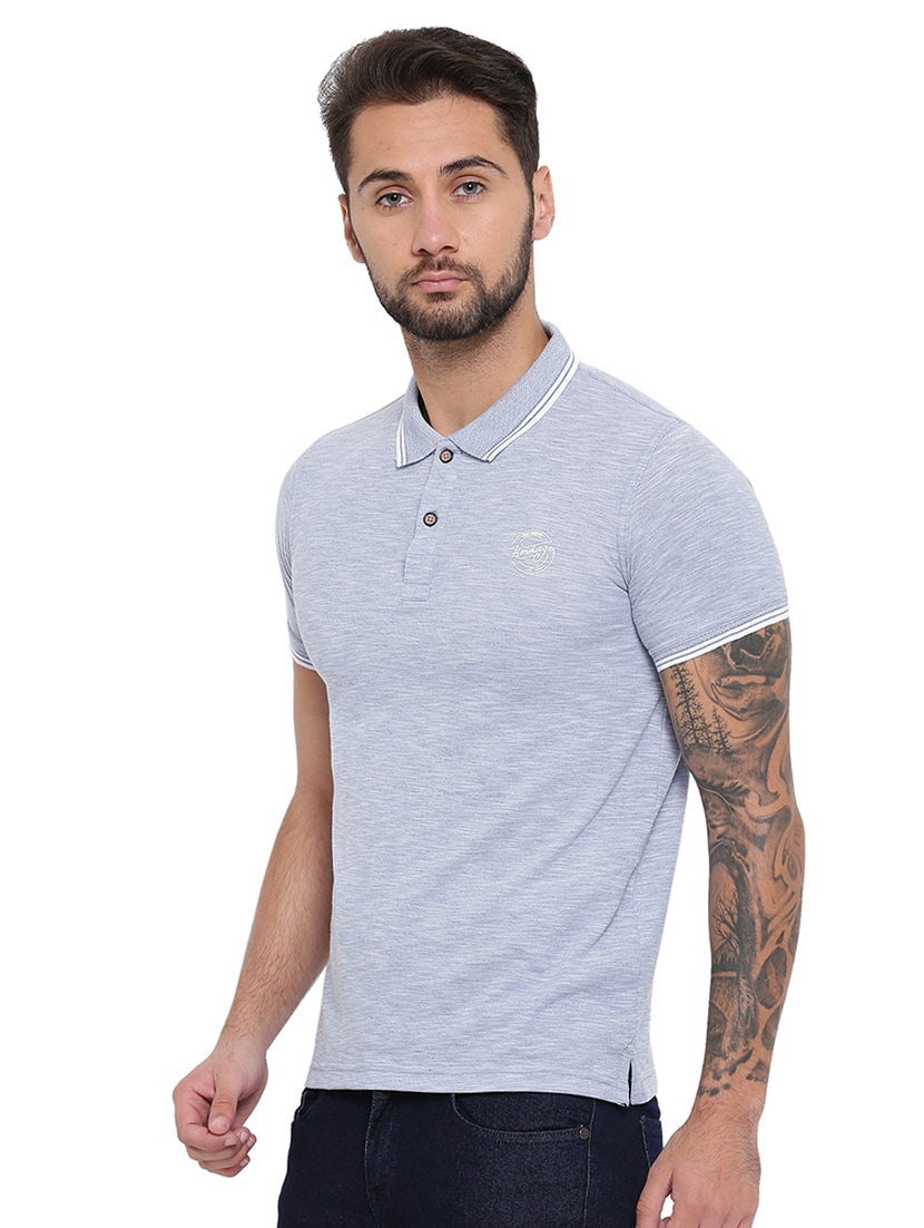 14e94faa2d7f2a Buy Blue Cotton Blend Polo T-shirt by Duke - Online shopping for T-shirts  in India   15541206