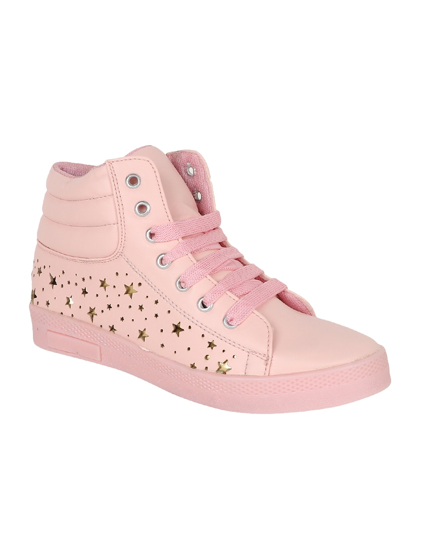 673b6ad29e7e Buy Pink Lace-up Sneakers for Women from Crab Shoes for ₹528 at 47% off