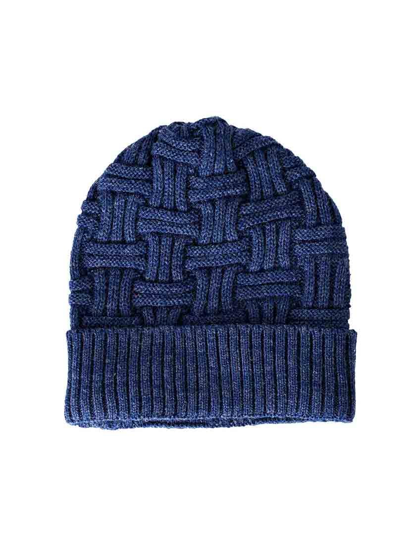 dcb5f8e5378 Buy Blue Wool Beanie for Men from Vr Designers for ₹336 at 52% off ...