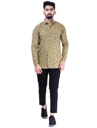 brown cotton casual shirt - 15563612 - Standard Image - 4