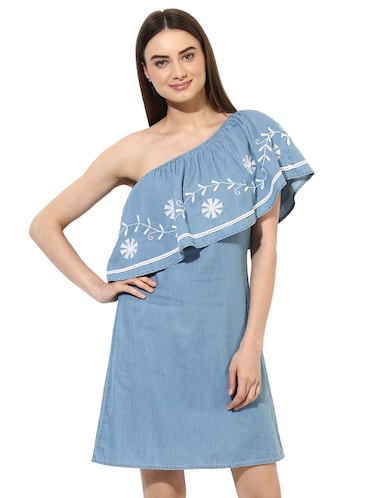 22393f4713f Buy Blue Denim Flared Dress for Women from Stylestone for ₹935 at ...