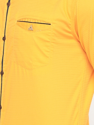 yellow cotton casual shirt - 15582605 - Standard Image - 4