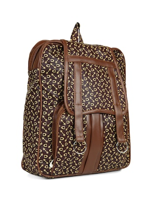 brown leatherette (pu) regular backpack - 15584063 - Standard Image - 4