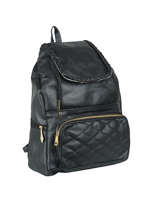 black leatherette (pu) regular backpack - 15584083 - Standard Image - 4