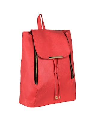 red leatherette (pu) regular backpack - 15584084 - Standard Image - 4