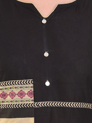Straight patch work kurta - 15586314 - Standard Image - 4