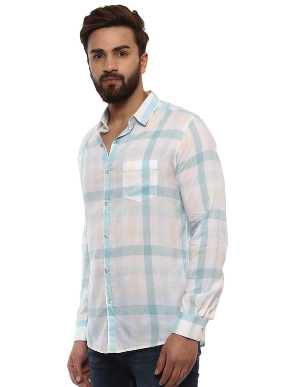 8694d7ea195 Buy Beige Cotton Casual Shirt for Men from Mufti for ₹999 at 50% off