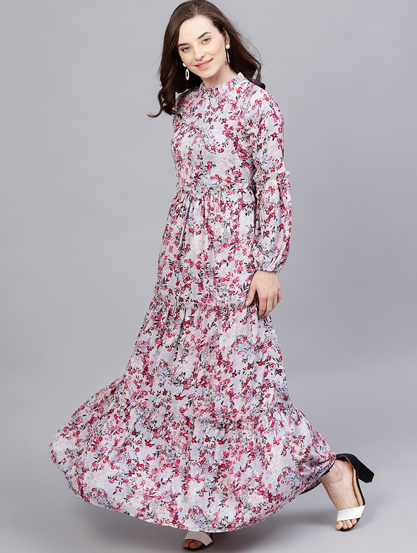 39189a6bf23 Buy Frilled Detail Neck Floral Maxi Dress for Women from Street 9 for ₹2154  at 2% off