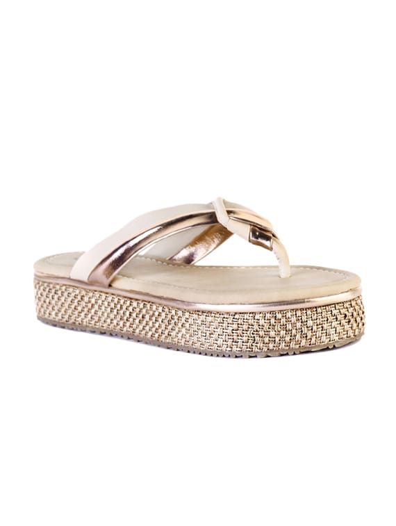 b29ee02bac0 Buy Gold Flat Forms Sandals for Women from Marc Loire for ₹1369 at 45% off