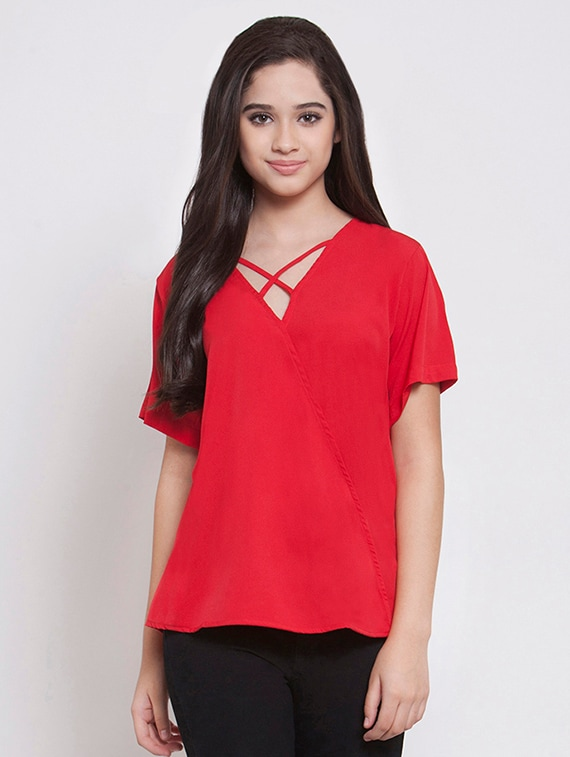 4b6aed00a9cad Buy Criss Cross V-neck Top for Women from Martini for ₹390 at 2% off