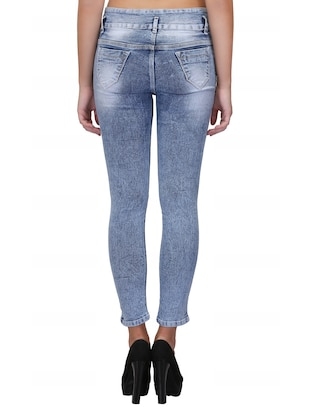 braid weave stone washed jeans - 15604541 - Standard Image - 4