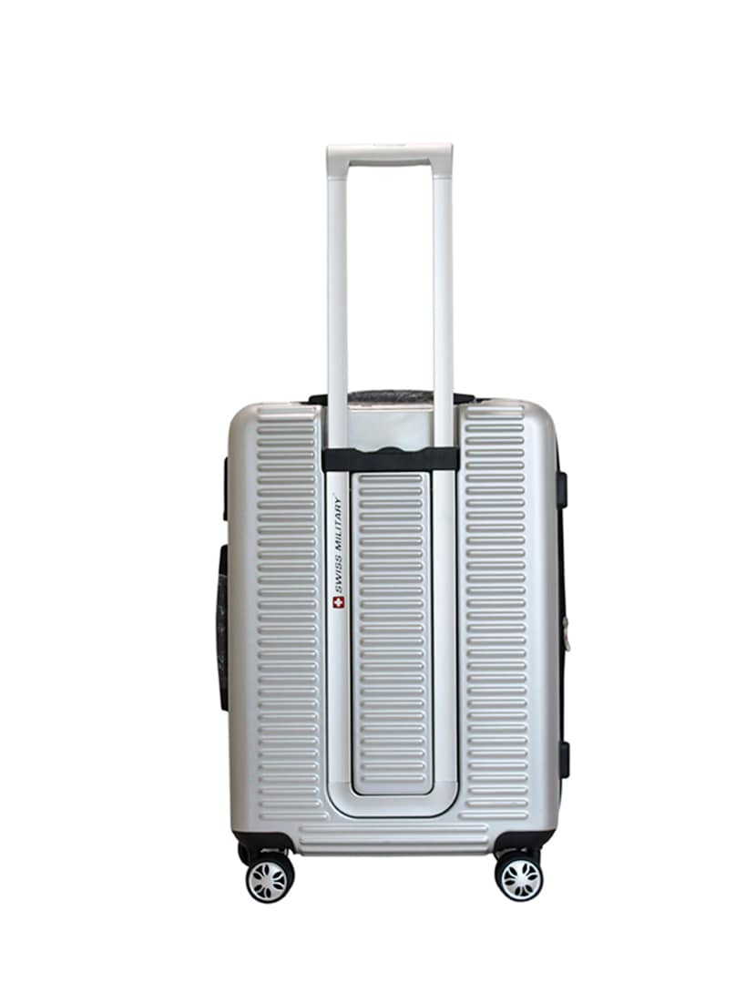 Buy Silver Polycarbonate Trolleybag by Swiss Military - Online shopping for  Trolleybag in India  77ae3279d5223