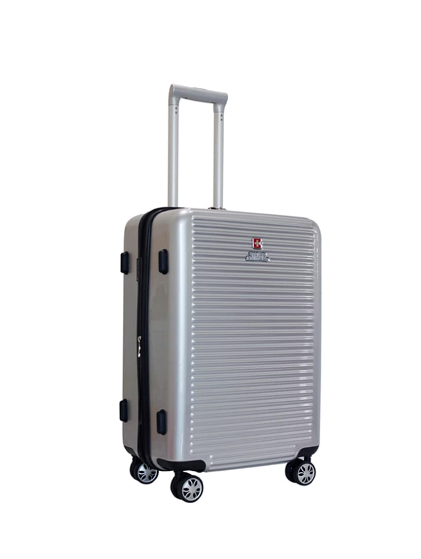 Buy Silver Polycarbonate Trolleybag by Swiss Military - Online ... a4d107109fc94