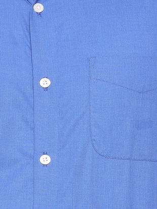 blue cotton formal shirt - 15608516 - Standard Image - 4