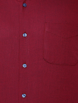 red cotton formal shirt - 15608606 - Standard Image - 4