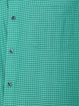 green cotton blend formal shirt - 15608627 - Standard Image - 4