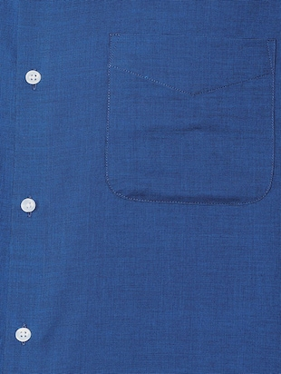 blue cotton formal shirt - 15608660 - Standard Image - 4