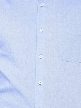 blue cotton blend formal shirt - 15608688 - Standard Image - 4