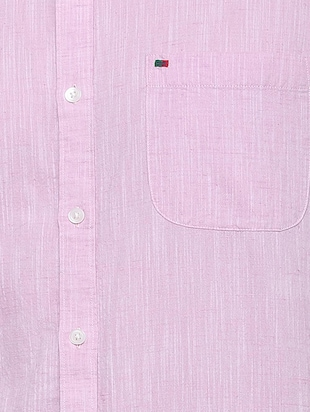 purple cotton casual shirt - 15609280 - Standard Image - 4