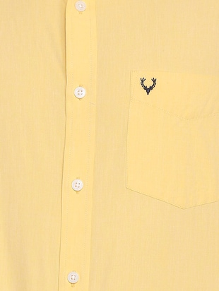 yellow cotton casual shirt - 15609334 - Standard Image - 4