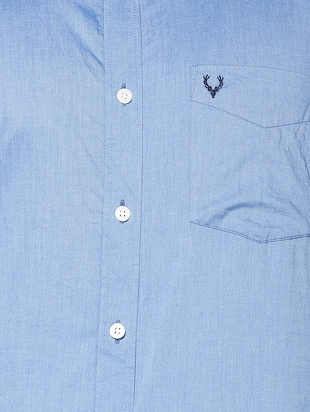 blue cotton casual shirt - 15609396 - Standard Image - 4