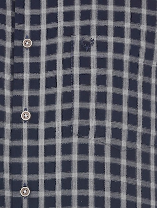 blue cotton casual shirt - 15609417 - Standard Image - 4