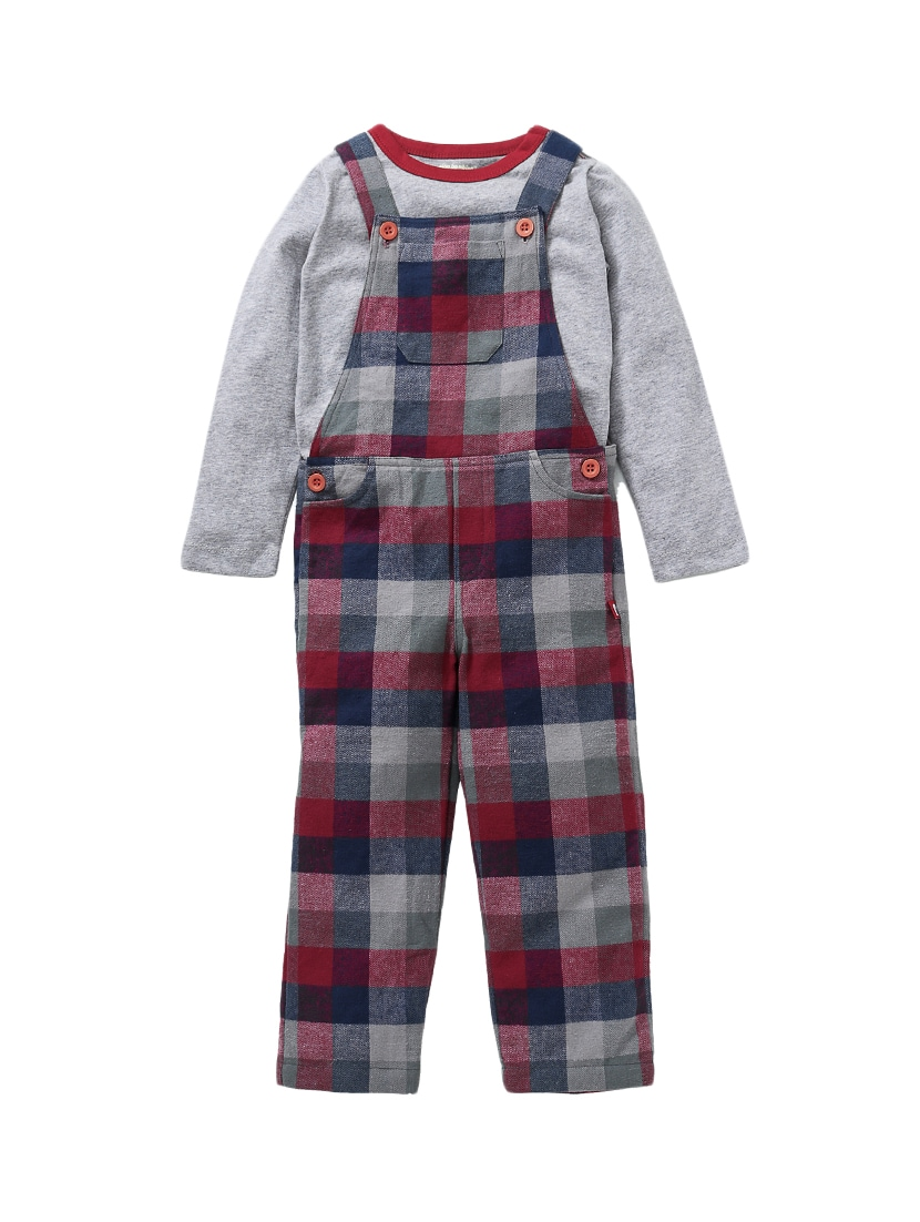 b2fb85fa6a4d Buy Red Cotton Dungaree Set by Nino Bambino - Online shopping for ...