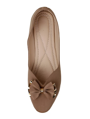 tan slip on ballerinas - 15612057 - Standard Image - 4