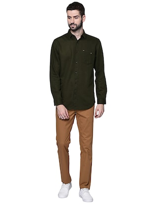 brown cotton chinos casual trouser - 15612305 - Standard Image - 4