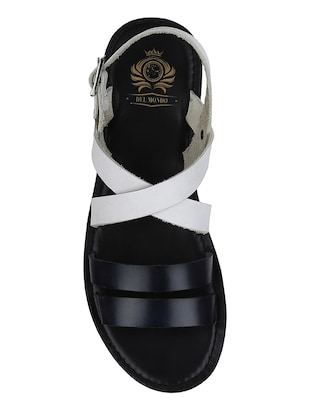 white Leather back strap sandals - 15613037 - Standard Image - 4