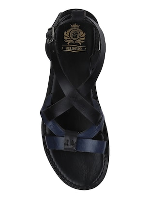 black Leather back strap sandals - 15613056 - Standard Image - 4