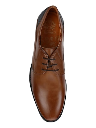 tan Leather lace-up derbys - 15613355 - Standard Image - 4