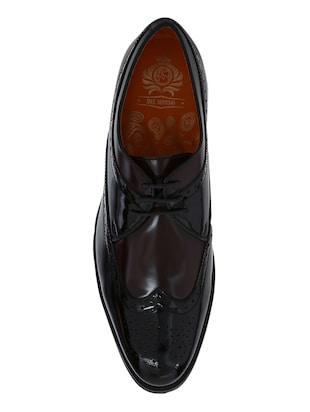 black Patent Leather lace-up derbys - 15613358 - Standard Image - 4