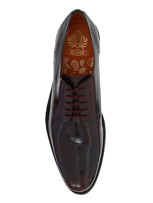maroon Patent Leather lace-up derbys - 15613366 - Standard Image - 4