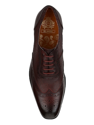 brown Leather lace-up brouges - 15613373 - Standard Image - 4