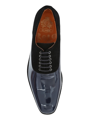 black Patent Leather lace-up oxfords - 15613383 - Standard Image - 4
