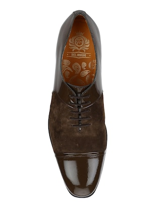 brown Suede lace-up oxfords - 15613413 - Standard Image - 4