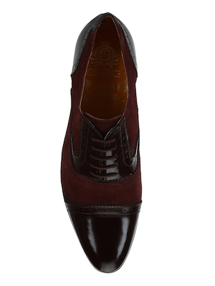 brown Suede lace-up oxfords - 15613421 - Standard Image - 4