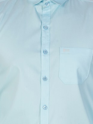 blue cotton casual shirt - 15613437 - Standard Image - 4