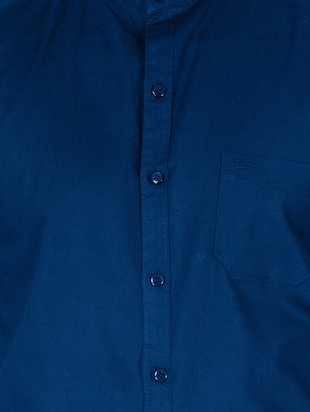 blue cotton casual shirt - 15613444 - Standard Image - 4